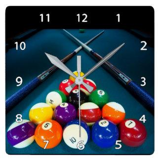 Horloge murale de billards