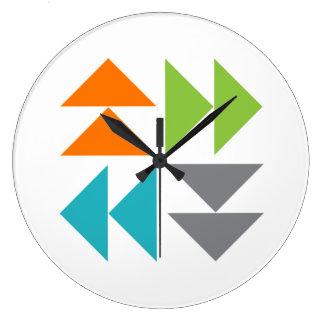 Horloge murale de bloc d'édredon d'oies de vol