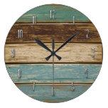 Horloge murale de bois de flottage