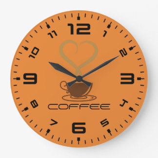Horloge murale de café ronde (grand)
