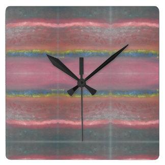 Horloge murale de carré de conception d'abrégé sur