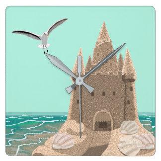 Horloge murale de carré de mouette de pâté de
