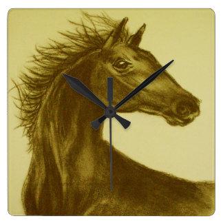 """Horloge murale de cheval de """"beauté"""""""