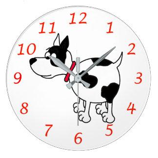 Horloge murale de chien de bande dessinée