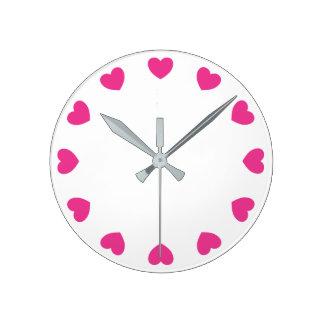 Horloge murale de coeur