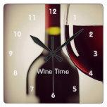 Horloge murale de conception de bouteille et en ve