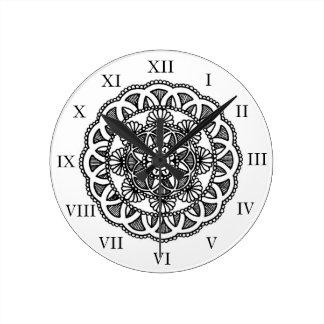 Horloge murale de conception de mandala