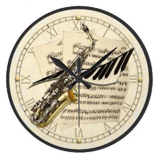 Horloge murale de conception de saxophone et de