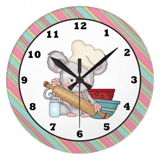 Horloge murale de cuisine de bande dessin e de sou for Horloge murale de cuisine