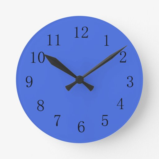 Horloge murale de cuisine de bleu royal zazzle - Horloge murale de cuisine ...