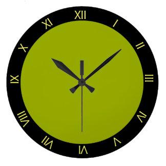 Horloge murale de cuisine de Starburst de vert et