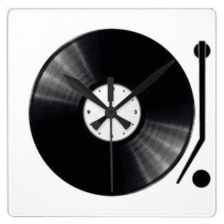Horloge murale de disque vinyle