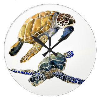 Horloge murale de faune d'animaux d'océan de