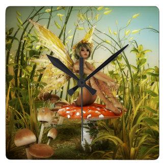 Horloge murale de fée d'été indien de la