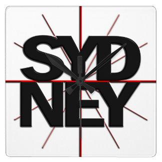 Horloge murale de fuseau horaire de Sydney