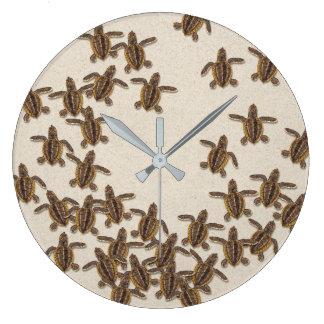 Horloge murale de Hatchlings de tortue de mer