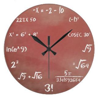 Horloge murale de jeu-concours de maths