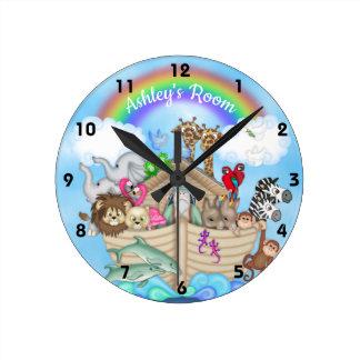 Horloge murale de l'arche de Noé nommé fait sur