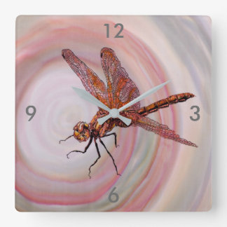 Horloge murale de libellule