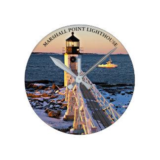 Horloge murale de Marshall PointLighthouse Maine