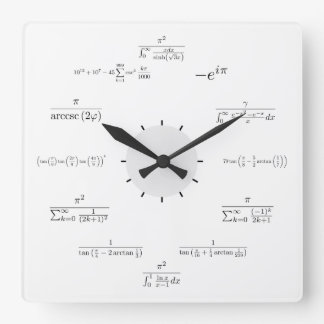 Horloge murale de maths