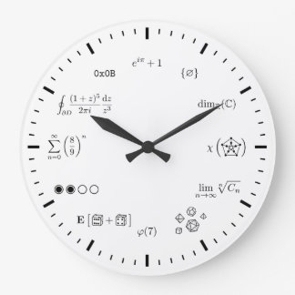 Horloge murale de maths (grande)