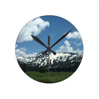 Horloge murale de montagne