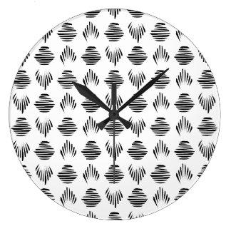Horloge murale de motif de coquillage