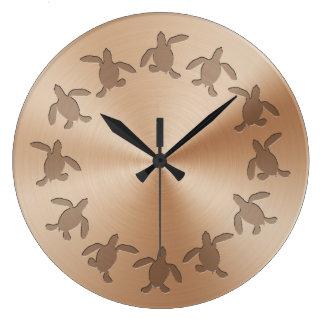 Horloge murale de motif en métal de Hatchling de