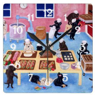 Horloge murale de peinture de boulangerie de