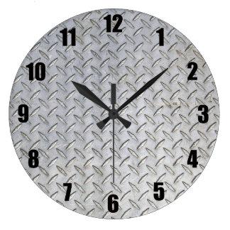 Horloge murale de plat de diamant