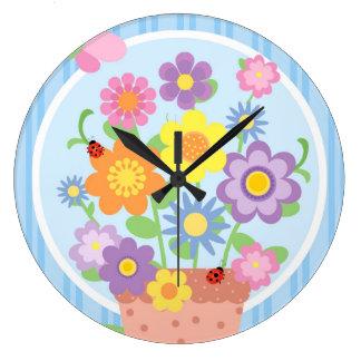 Murale fleurie horloges murale fleurie horloges murales - Fixation murale pot de fleur ...