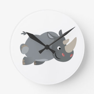 Horloge murale de remplissage de rhinocéros de