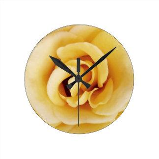 Horloge murale de rose jaune du Texas
