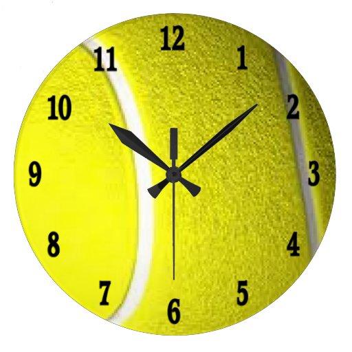 Horloge murale de sport de balle de tennis