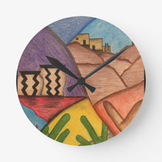 Horloge murale de sud-ouest de l'Arizona de danse