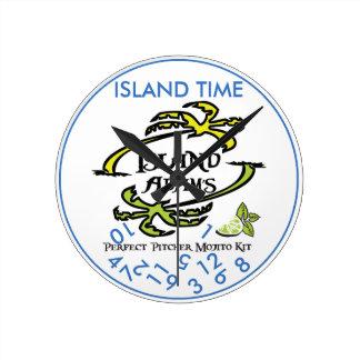 Horloge murale de temps d'île d'Adam d'île