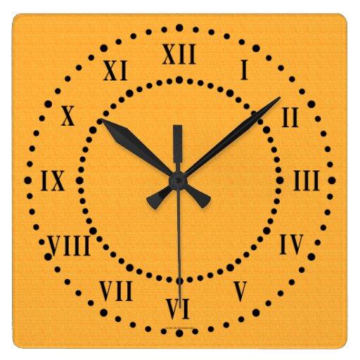 Horloge Murale De Toile De Chiffres Romains De Sem Zazzle