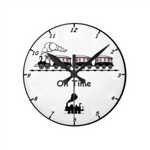 Horloges chemin fer murales - Wanduhr eisenbahn ...