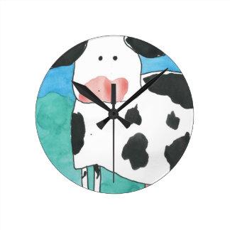 Horloge murale de vache