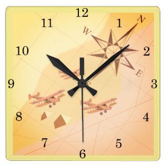 horloge murale de vol de désert des années 1920