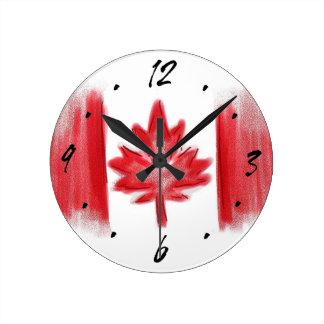 Horloge murale décorative artistique de drapeau