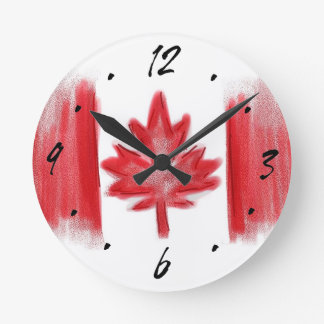 Horloge murale décorative artistique de drapeau ca
