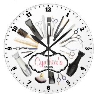 Horloge murale décorative de salon de coiffure