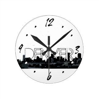 Horloge murale décorative d'horizon blanc noir de