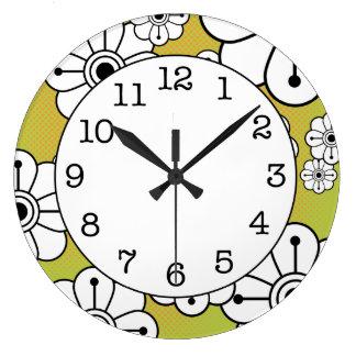 Horloge murale décorative florale géniale