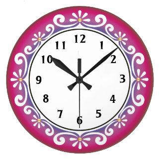 Horloge murale décorative : : Rose foncé