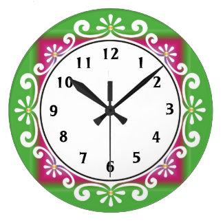 Horloge murale décorative : : Vert