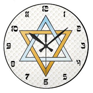 Horloge murale d'étoile de David