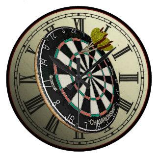 Horloge murale drôle de conception de cible